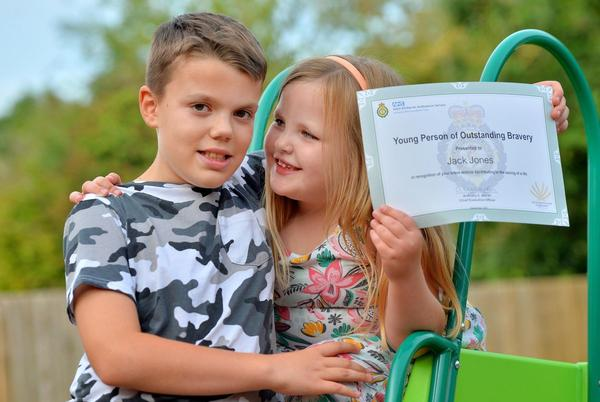 Picture for Heroic 10-year-old praised for saving his little sister's life