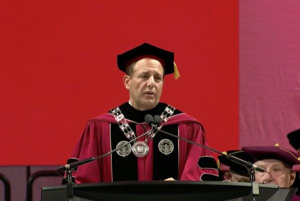 Picture for Joseph Harroz inaugurated as 15th university president in Lloyd Noble Center ceremony