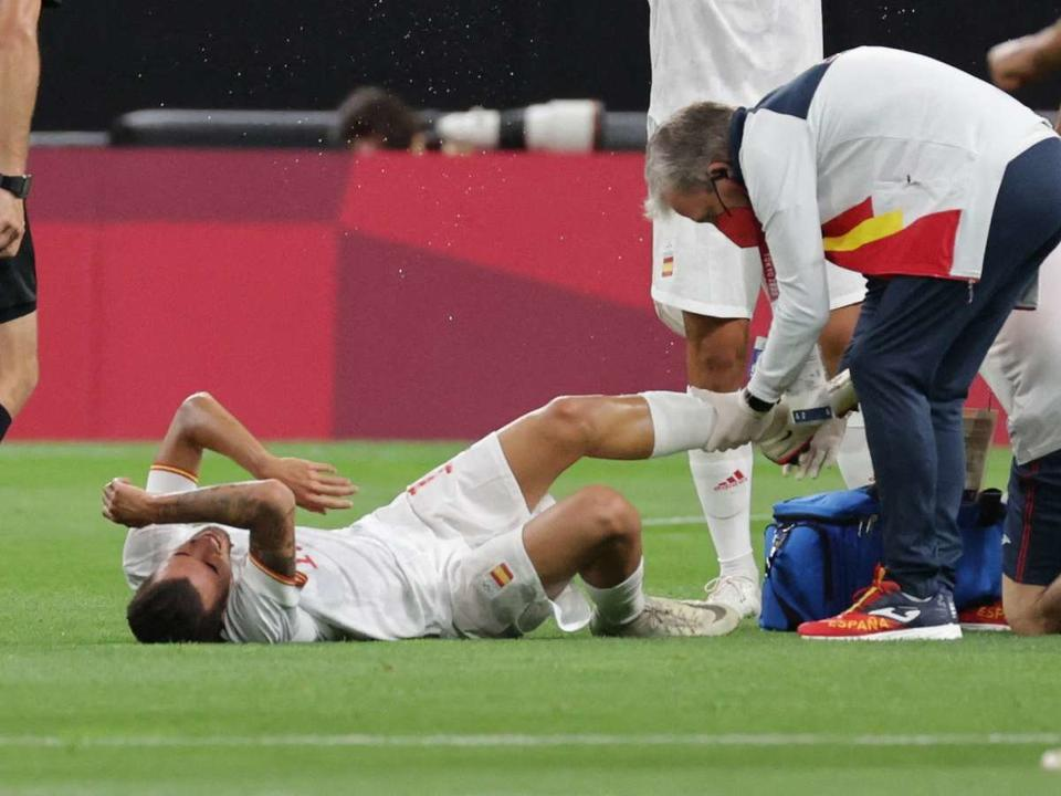 injury-worry-for-real-madrid-midfielder-ceballos-as-he-limps-out-of-spain-olympics-clash-with-egypt