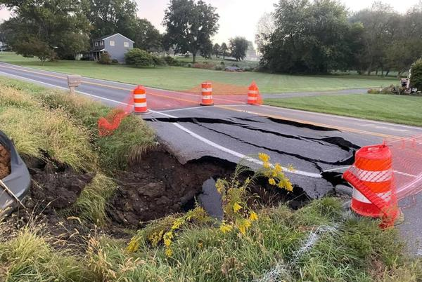 Picture for Sinkhole Opens, Closing Major Roadway In Lancaster County