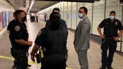 Cover for Man slashed on the head while standing on Times Square subway platform