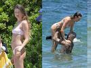 Picture for Adam Levine and Behati Prinsloo steal glances while on vacation