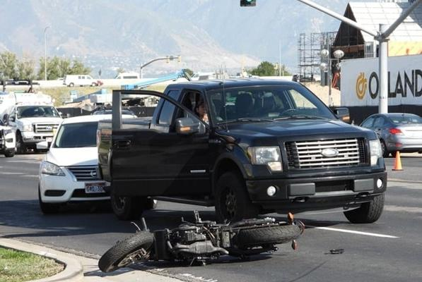 Picture for Motorcyclist in stable condition after collision with pickup truck in Taylorsville