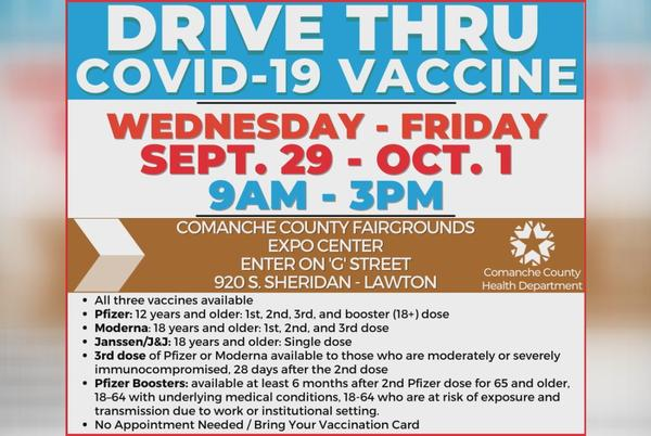 Picture for Three day COVID vaccine clinic coming to Lawton Wednesday