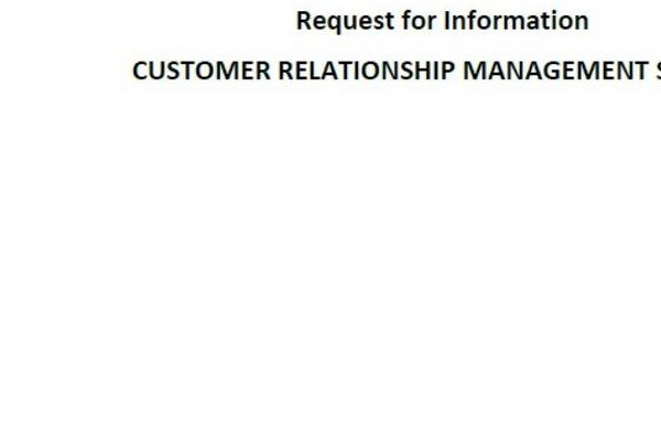 Picture for Request for Information: Customer Relationship Management System