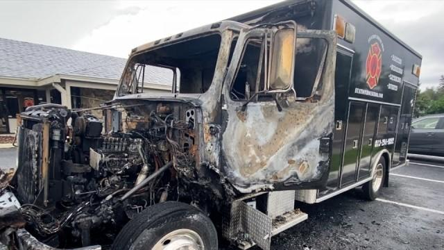 Picture for Station House BBQ says its transport truck is a complete loss after fire