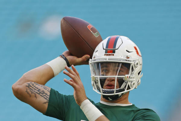 Picture for Miami Hurricanes QB Jake Garcia USC replacement shines this weekend