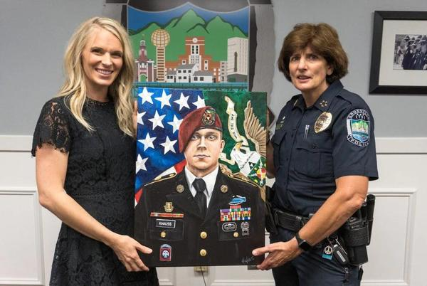 Picture for Local artist honors Army Staff Sgt. Ryan Knauss with portrait