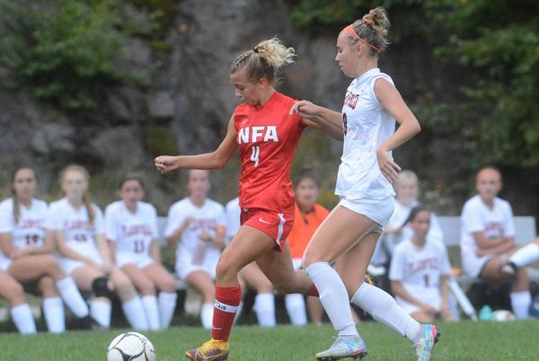 Picture for Norwich girls soccer win as easy as 1-2-3