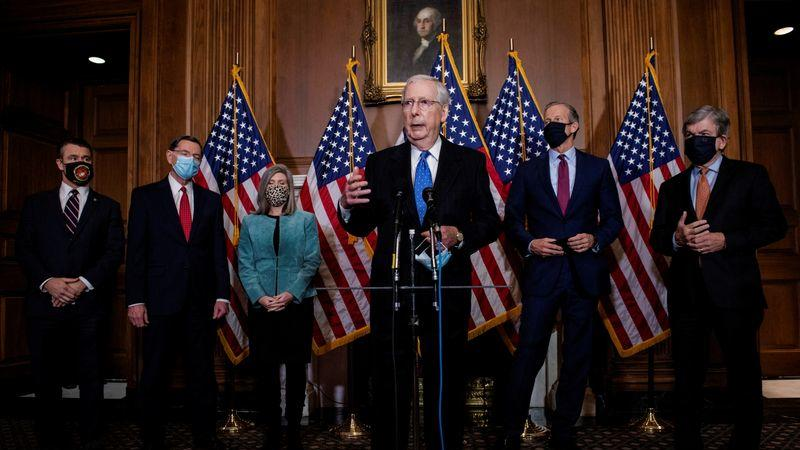 U.S. Senate leader McConnell urges new COVID-19 aid in broad funding bill