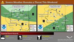 Cover for Storms possible across Central Illinois this weekend