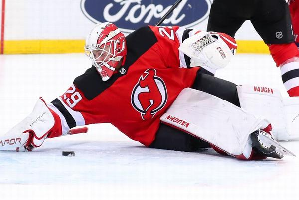 Picture for New Jersey Devils goalie Mackenzie Blackwood gets first dose of COVID-19 vaccine