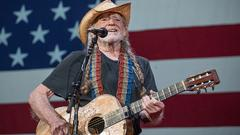 Cover for Willie Nelson performs 'Vote 'Em Out' at Texas rally in support of voting rights