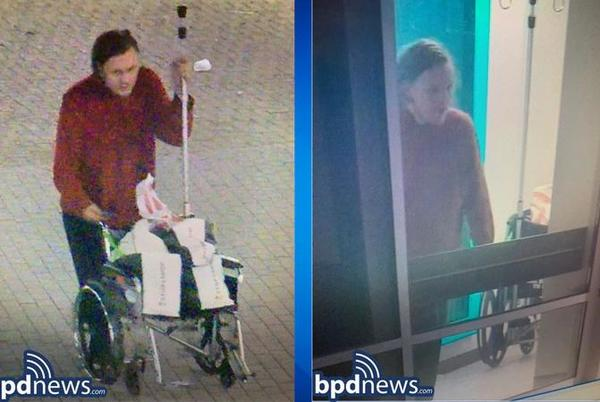 Picture for BPD searching for suspect who assaulted security officer in Roxbury