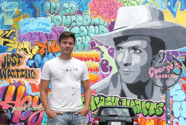 Picture for Downtown Canton mural puts vibrant spin on Hank Williams and street art at George's Lounge