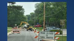 Cover for Sinkhole closes portion of road in Mission