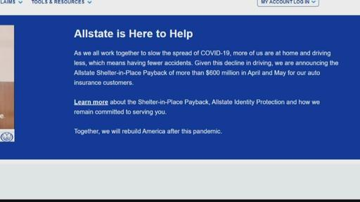 Allstate Providing Shelter In Place Payback Payment Relief To