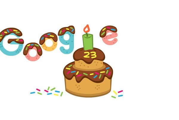 Picture for Google Doodle celebrates company's 23rd birthday w/ a cake