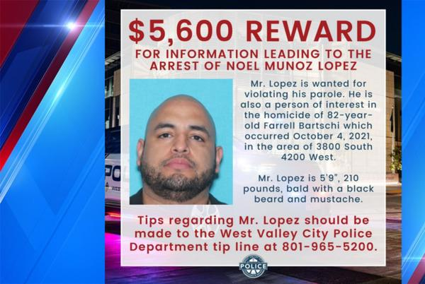Picture for Increased reward offered for West Valley City homicide person of interest