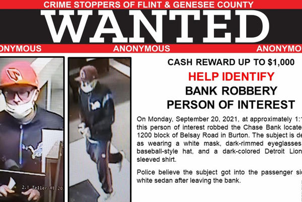 Picture for Police search for suspect who robbed a bank in Burton