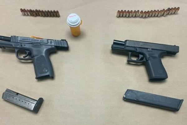 Picture for Two men arrested on weapons, drug charges after a traffic stop