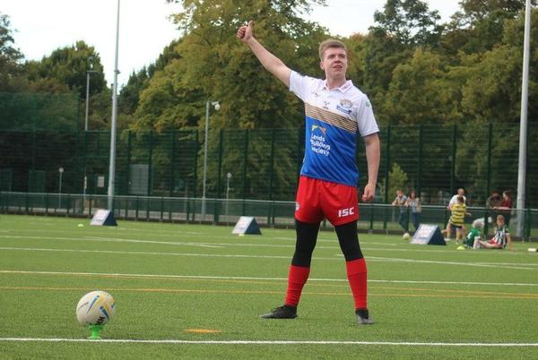 Picture for Leeds Rhinos: Blind rugby league player makes conversion