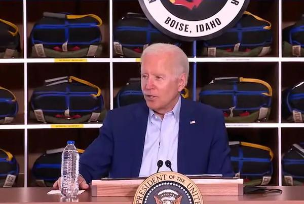 Picture for President Biden's claim of an interview for a job in Idaho