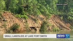 Cover for Landslide reported at Lake Fort Smith