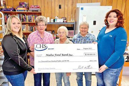 Picture for CHS Big Sky Presents Check to Malta Food Bank