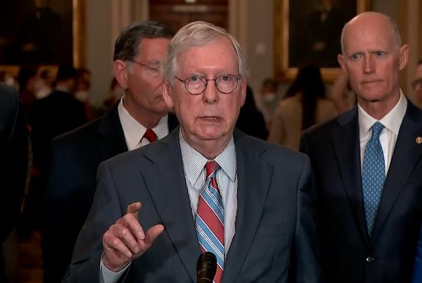 Picture for Senate Republicans say they will vote to allow a debt default, leaving Democrats scrambling for plan to avert economic crisis