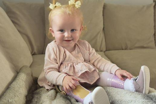 Picture for Family's thanks to hospital 'for giving our baby a chance to walk'