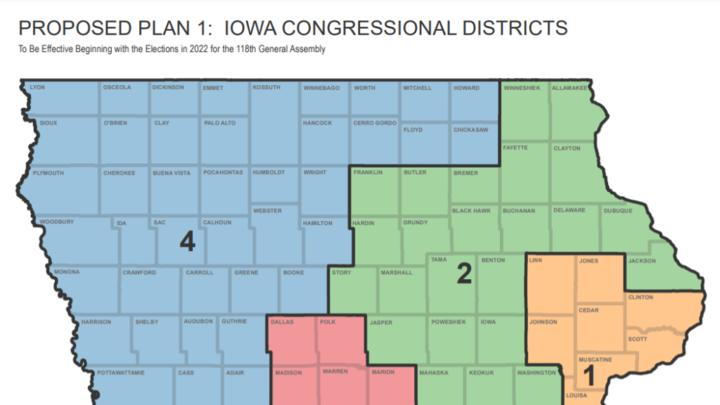 Cover for Proposed redistricting maps reshape Iowa's political landscape