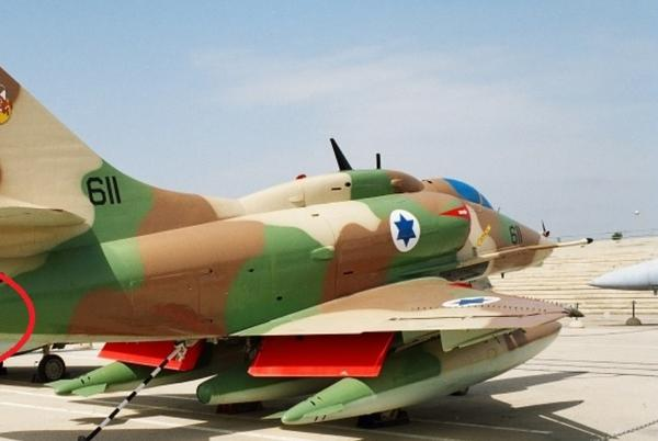 """Picture for The Israeli Air Force A-4's """"Barrel"""": the Yom Kippur War-era modification that extended the Skyhawk's nozzle to combat the heat-seeking SA-7 SAM"""