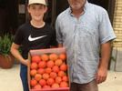 Picture for First box of Bradley County, Arkansas, tomatoes delivered to Extension office
