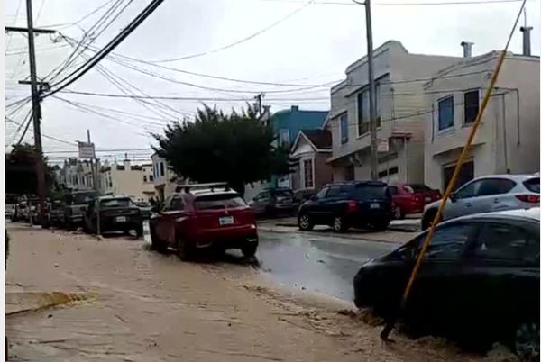Picture for Video: Water main break in San Francisco