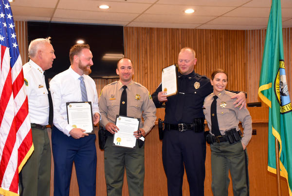 Picture for Yelm Deputy, Two Officers Receive Lifesaving Awards