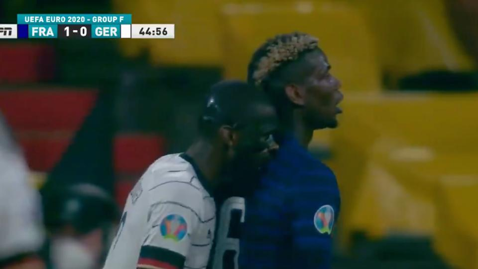 Picture for Soccer fans made so many Luis Suarez jokes after Antonio Rudiger's apparent bite of Paul Pogba