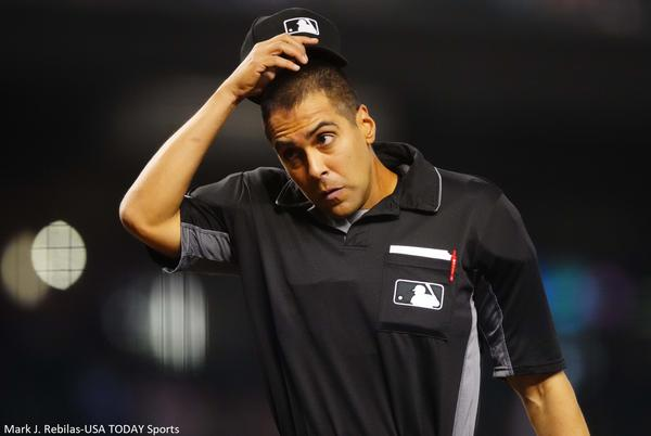 Picture for Umpire Gabe Morales gets brutal Wikipedia edits after blown call