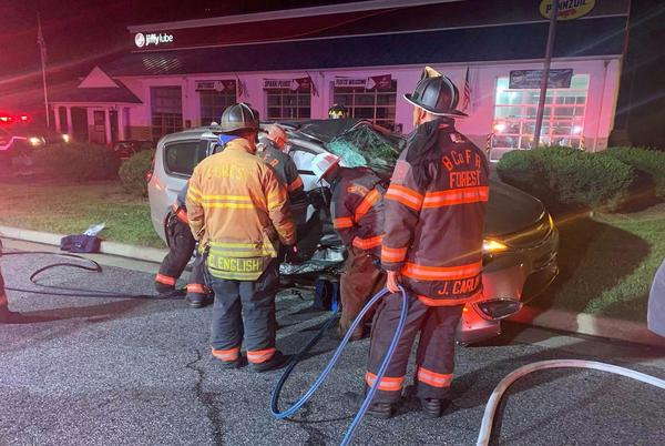 Picture for Two hospitalized after crash involving tractor-trailer at Waffle House in Bedford County