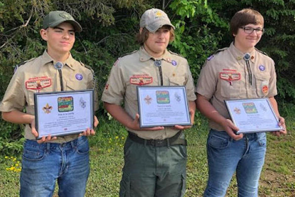 Picture for Limestone Scouts earn special awards