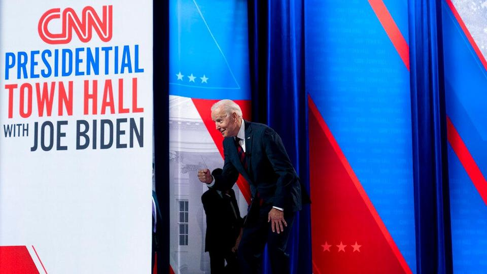 Picture for Fact check: Biden CNN town hall crowd smaller than Trump Phoenix speech because it was invite-only