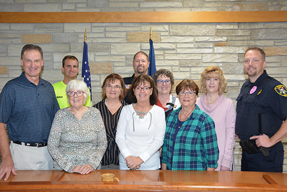 Picture for Crossroads Family Church, Wautoma, shows support for local law enforcement
