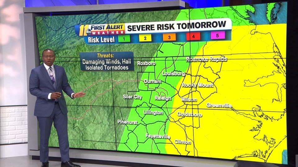 Picture for Level 2/5 Risk of Severe Storms Tomorrow