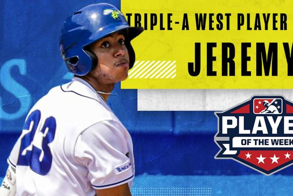 Picture for Jeremy Peña Named Triple A West Player of the Week