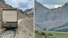 Cover for Delivery truck driver attempts to navigate a Colorado mountain pass and fails miserably