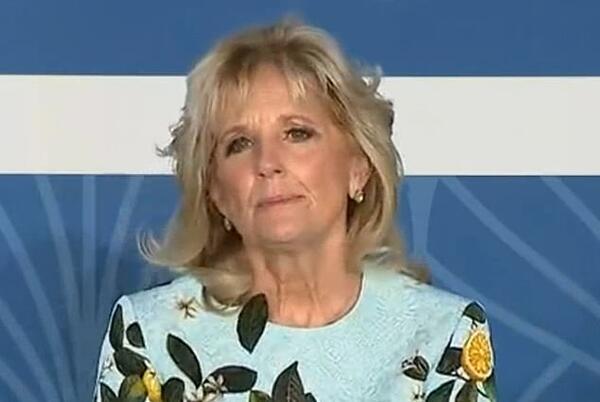 Picture for Jill Biden gives subtle nod to Meghan with $2,890 Oscar de la Renta dress