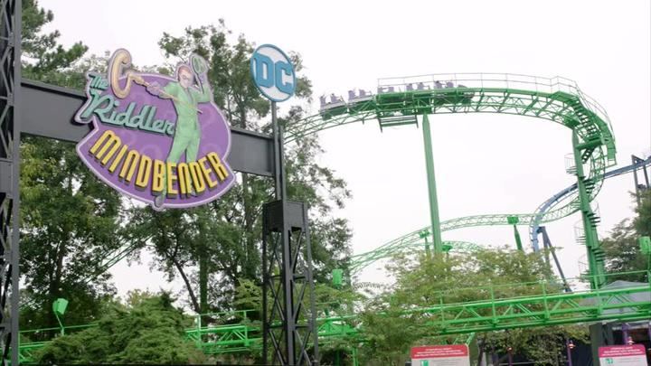 Cover for Six Flags unveils The Riddler Mindbender roller coaster