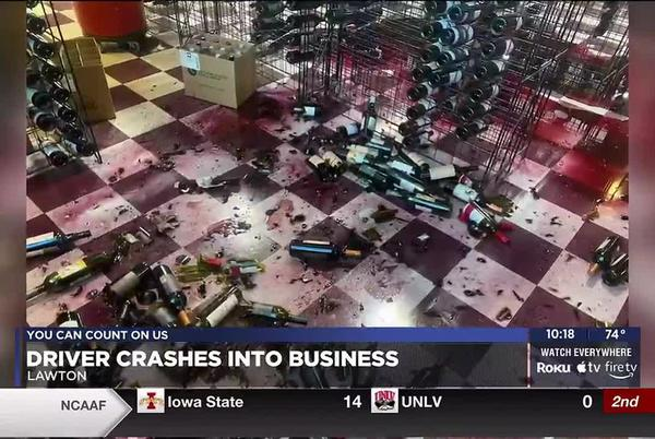 Picture for Lawton business working on repairs after driver crashes into building