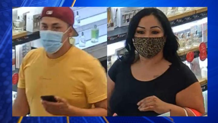 Cover for Two wanted in thefts at Valley Plaza mall
