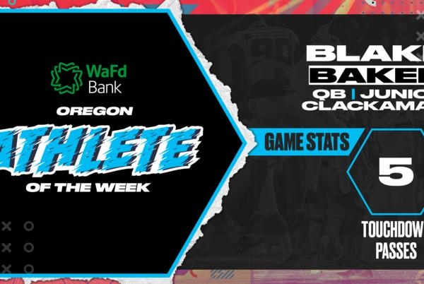 Picture for Clackamas QB Blake Baker voted the WaFd Bank Oregon High School Athlete of the Week